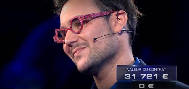 Damien Miglietta, le fou des lunettes, a tenté sa chance au jeu The Wall de TF1