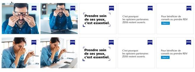 Une campagne 100% digitale par Zeiss pour inciter les Français à se rendre chez un opticien