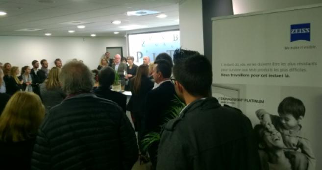 Zeiss : 90 opticiens accueillis lors de l'inauguration du centre Point Vision de Marseille
