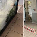 La vitrine de cet opticien fracturée après une rixe commencée dans le supermarché de la galerie
