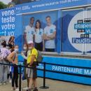 Le Bus de la Vue et de l'Audition Krys suit le Tour de France. Acuité s'y est rendu