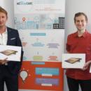 Le groupe Afflelou et Cofidis offrent des dons à une association