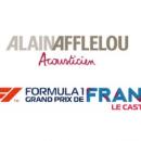 Alain Afflelou Ascousticien nouveau partenaire du roadshow du Grand prix de France de Formule 1