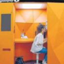 Une cabine « type Photomaton » créée pour effectuer des examens de vue