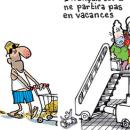 Des vacances en suspens, une vision humoristique