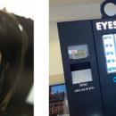 Une opticienne met en place des distributeurs automatiques de produits optiques pour les consommateurs