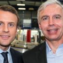 """Emmanuel Macron à Bazainville: """"Krys Group est une entreprise de l'en-même temps"""""""