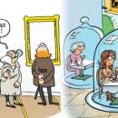 Réouverture des restaurants et grands musées, une vision humoristique