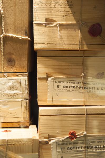 Boîtes à brevet ©Musée de la Lunette. Photo : B. Becker