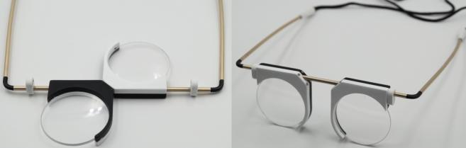 Prix de la mode « Bi-good ». Des lunettes bijoux avec Naja (Chaux du Dombief). Par Cynthia Jacquemot (Toulon), Delphine Maziol (Nantes) et Adélie Lacombe (Paris)