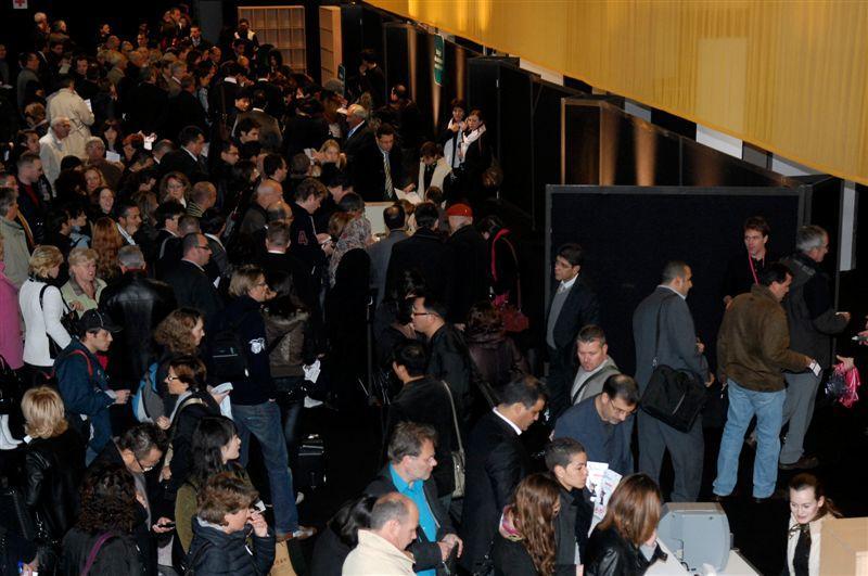 Entree du hall central à l'ouverture