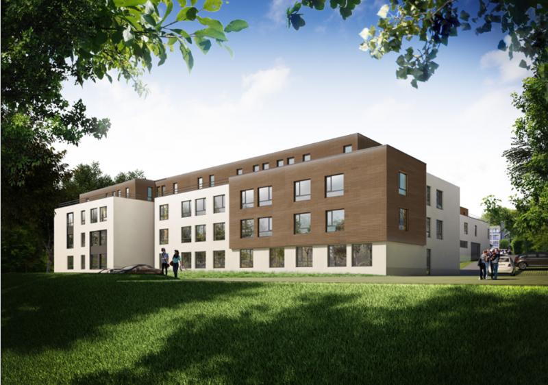 Projet de la résidence pour 210 logements.