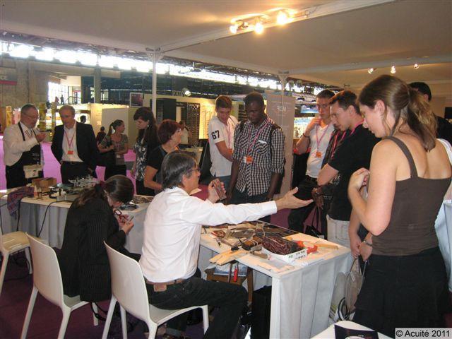 Grande affluence sur le stand des Meilleurs Ouvriers de France Lunetiers