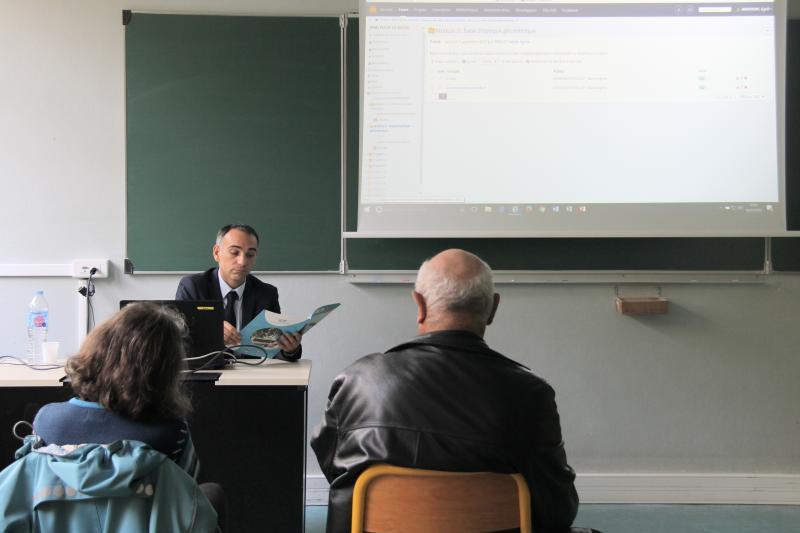 Un atelier sur les nouvelles techniques e-learning, futur de la formation, était au programme. ©Acuité 2017