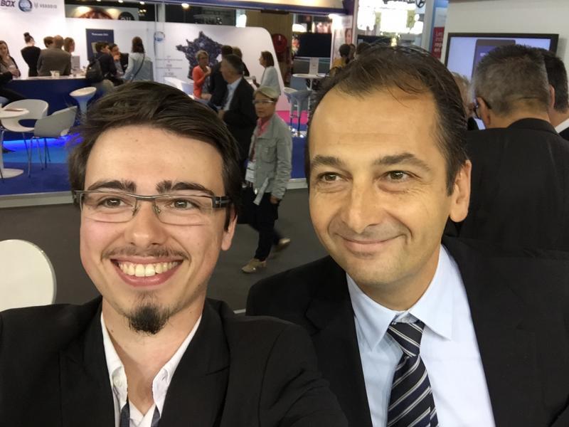 Etape sur le stand Acep avec Jean-Philippe Sayag