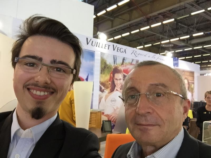Gérard Vuillet en photo avec Vincent