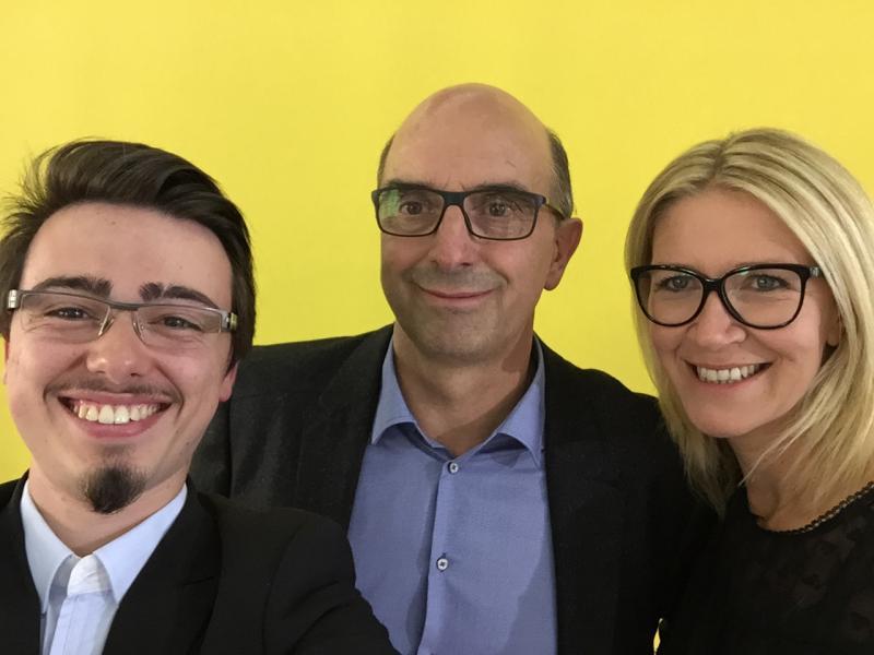 Selfie avec M. Rosset à la fin du débat Acuité TV