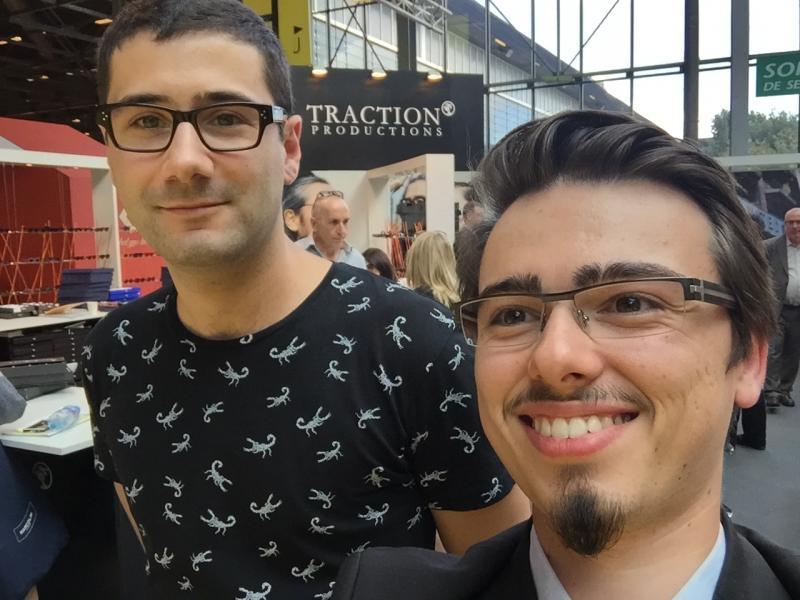 Dernier selfie du jour avec la dynamique équipe de Traction Productions