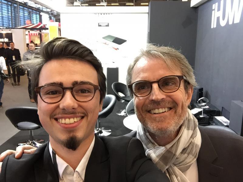 Vincent accompagné de Philippe Diné pour le lancement de la gamme French Night