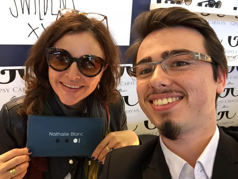 Selfie avez Nathalie Blanc sur le stand Gipsy Caravan