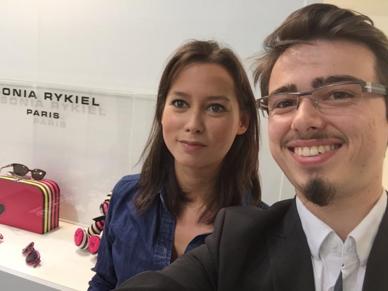 Visite du stand L'amy Group avec Ophélie Ros