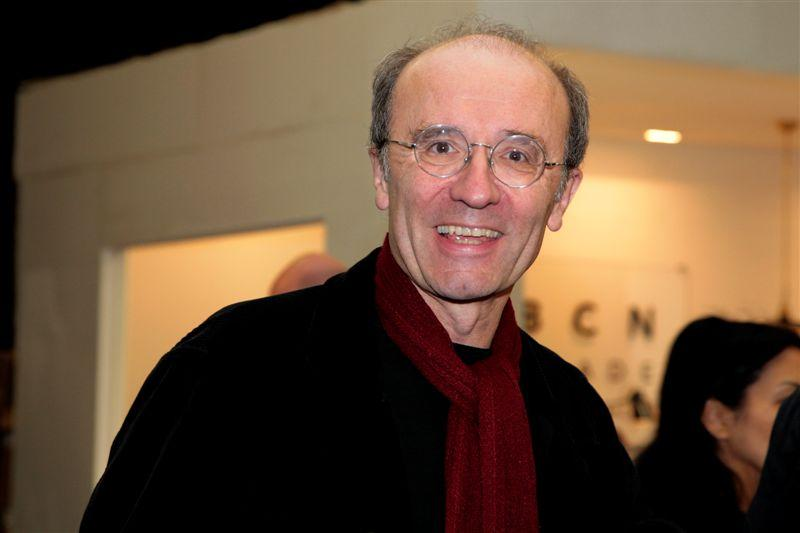 L'humoriste Philippe Geluck, venu présenter la collection Le Chat