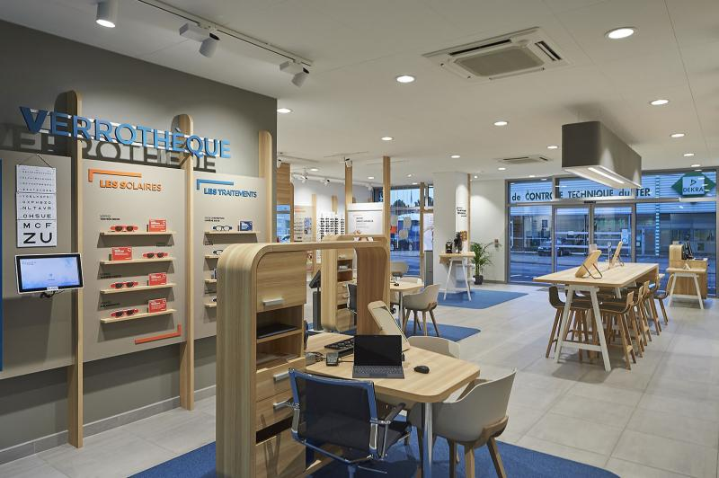 Nouveau concept magasin Les Opticiens Mutualistes HSM   Acuité c148f6b1c684