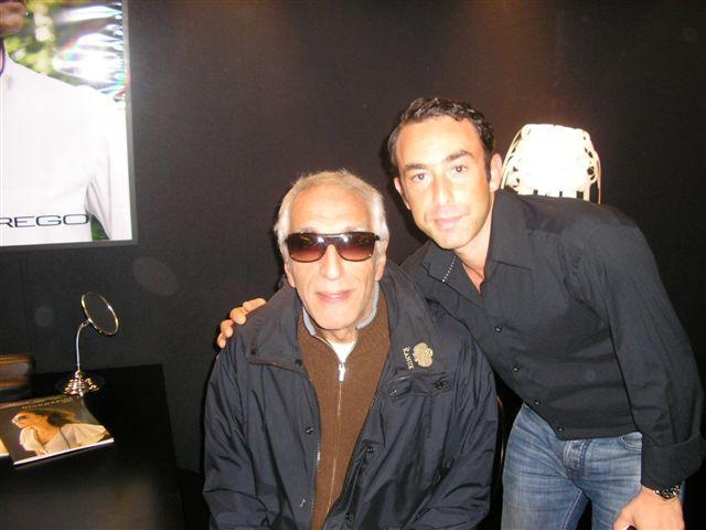 L'acteur Gérard Darmon était aussi au Silmo sur le stand Prego