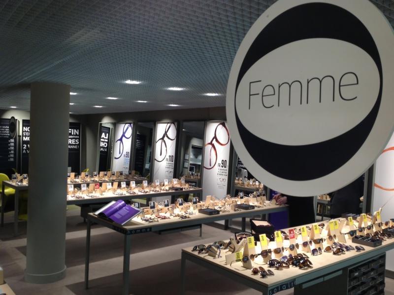 Hommes, femmes, enfants, solaires, audio et contacto, la segmentation n'est pas différente des autres magasins Acuitis.
