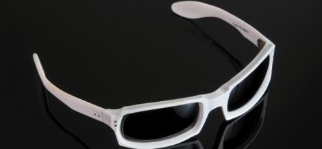 Paire de lunette en acétate blanc - Michel Polnareff
