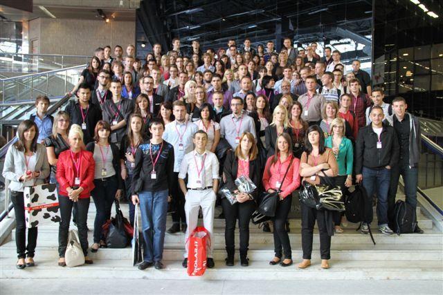 Rassemblement des étudiants du Lycée Saint Andrée d'ottange