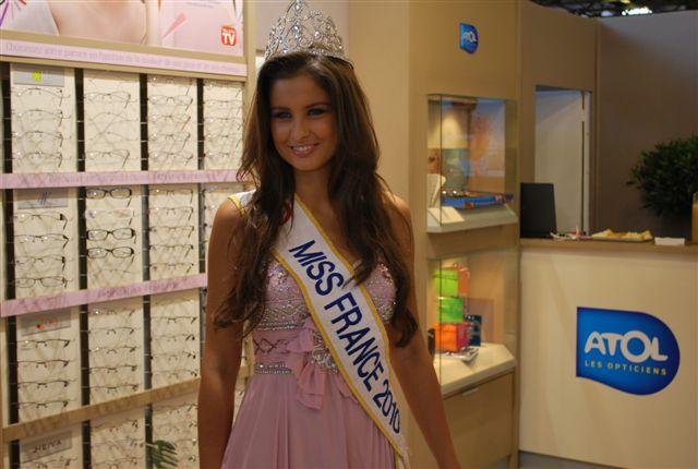 Miss France 2010 sur le stand Atol
