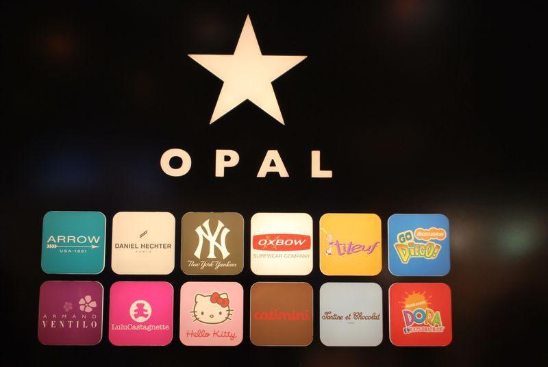 Le mur des marques d'Opal