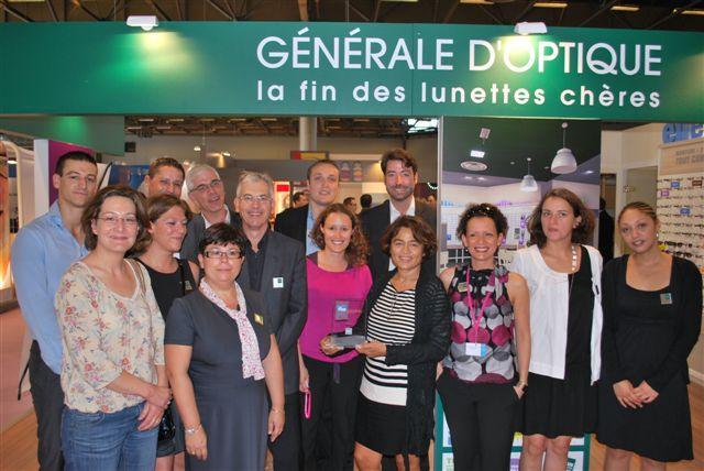 Christiane Delangle et son équipe ont reçu le prix de l'enseigne préférée des Français catégorie optique