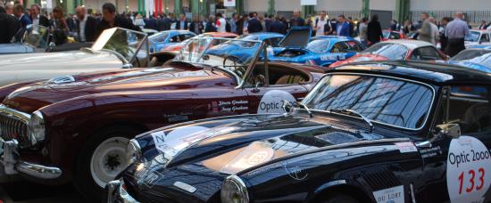 De nombreux visiteurs ont admiré les 240 voitures du Tour Auto au Grand Palais à Paris
