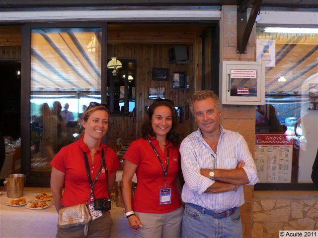 Marie-France Verglas (BBGR), Elise Desfontaines (BBGR) et Yves Guénin (Audioptic)