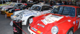 Les 240 voitures au départ du Tour Auto étaient présentées sous la verrière du Grand Palais à Paris