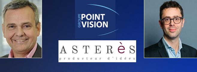 François Pelen, co-fondateur de Point Vision (à gauche) et Nicolas Bouzou, directeur d'Asperès (à droite)