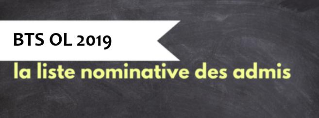 11ea8e9c68 BTS OL 2019 : 1 454 diplômés. La liste nominative des admis sur Acuité…