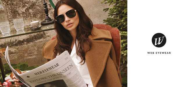 La collection Web Eyewear est créée et produite par Marcolin