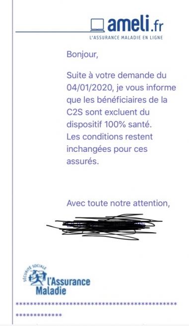 Reçu par un opticien de la part de la CPAM de Paris, sous réserve que ce ne soit pas un fake