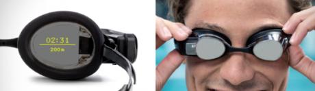 Les premières lunettes de natation dotées de réalité augmentée