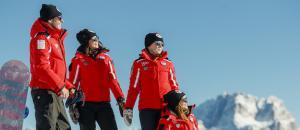 Barberini à la conquête des pistes avec l'École de ski de Cortina