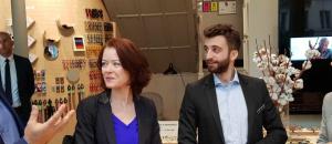 De gauche à droite : André Balbi, président du Rof,Mathilde Lignot-Leloup, directrice de la Sécurité sociale, Pierrick Salaun, responsable du magasin Acuitis et Christelle Dubos, secrétaire d'Etat